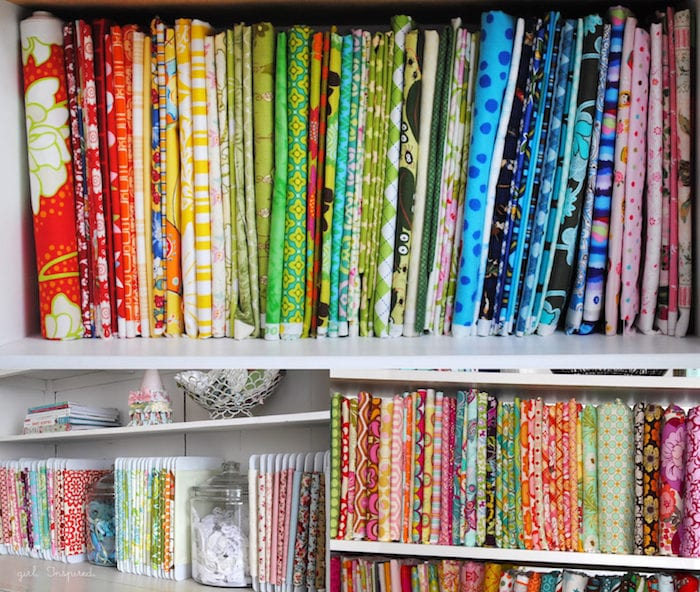 Organizing your fabric stash - tips and tricks from Melly Sews