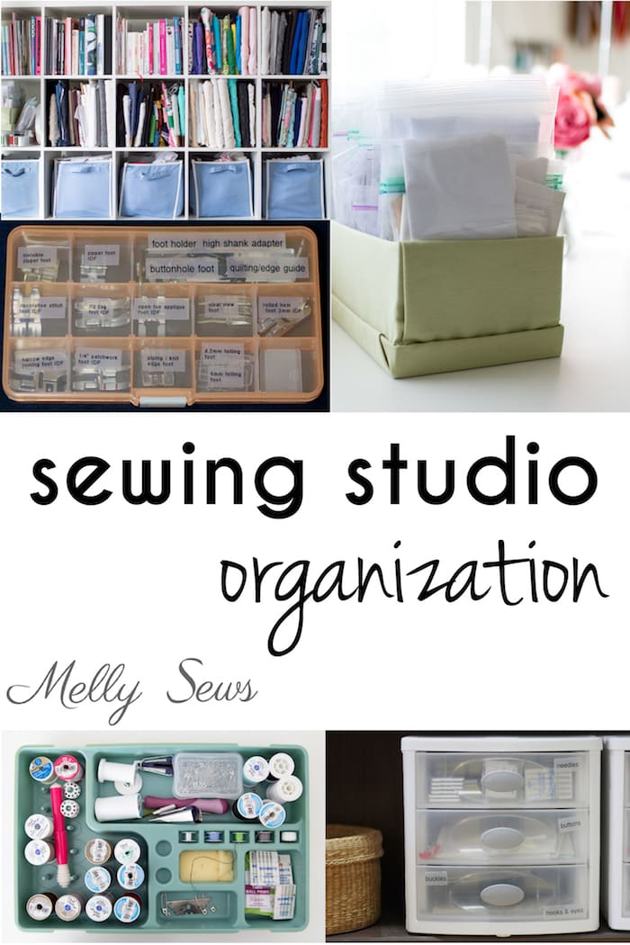 Sewing Studio Organization Tips and Tricks from Melly Sews