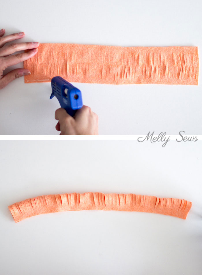 Step 2- How to make a felt chrysanthemum - felt flower tutorial by Melly Sews