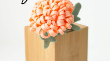 How to Make a Felt Chrysanthemum