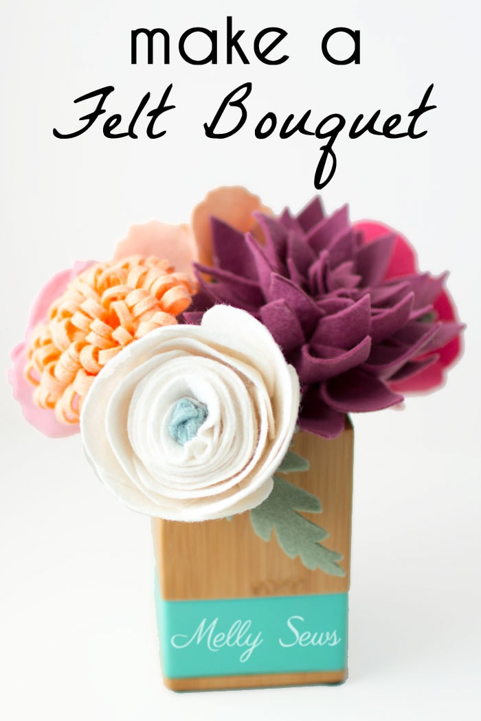 Just gorgeous! How to make a felt flower bouquet - felt flower tutorial by Melly Sews