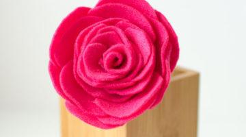 How to Make a Felt Rose Flower