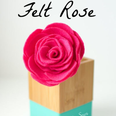 How to Make a Felt Rose Flower