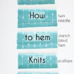 How to Hem Knits – Knit Hems