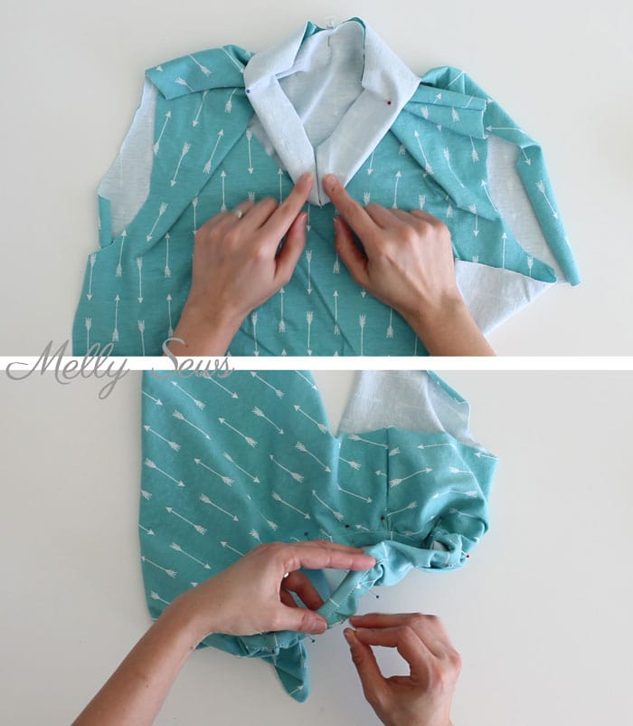 Knit Up Stitches Around Neckline : Sew Knit Neckband - How to Finish Knit Necklines and Sew Knit Binding - Melly...