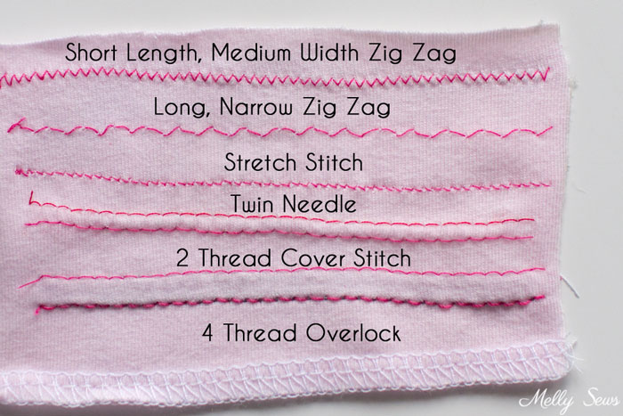 Types of stitches used to sew knits - sewing with knits - Melly Sews