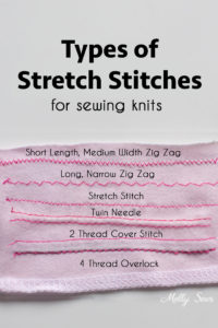So much great information! Types of stitches used to sew knits - sewing with knits - Melly Sews