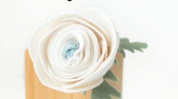 How to Make a Felt Ranunculus