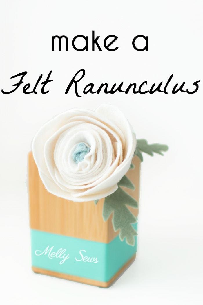 How to make a felt chrysanthemum - felt flower tutorial by Melly Sews
