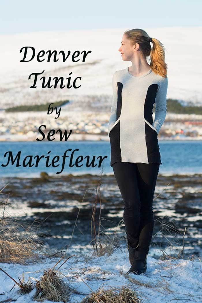 Denver Tunic sewing pattern by Blank Slate Patterns sewn by Sew Mariefleur