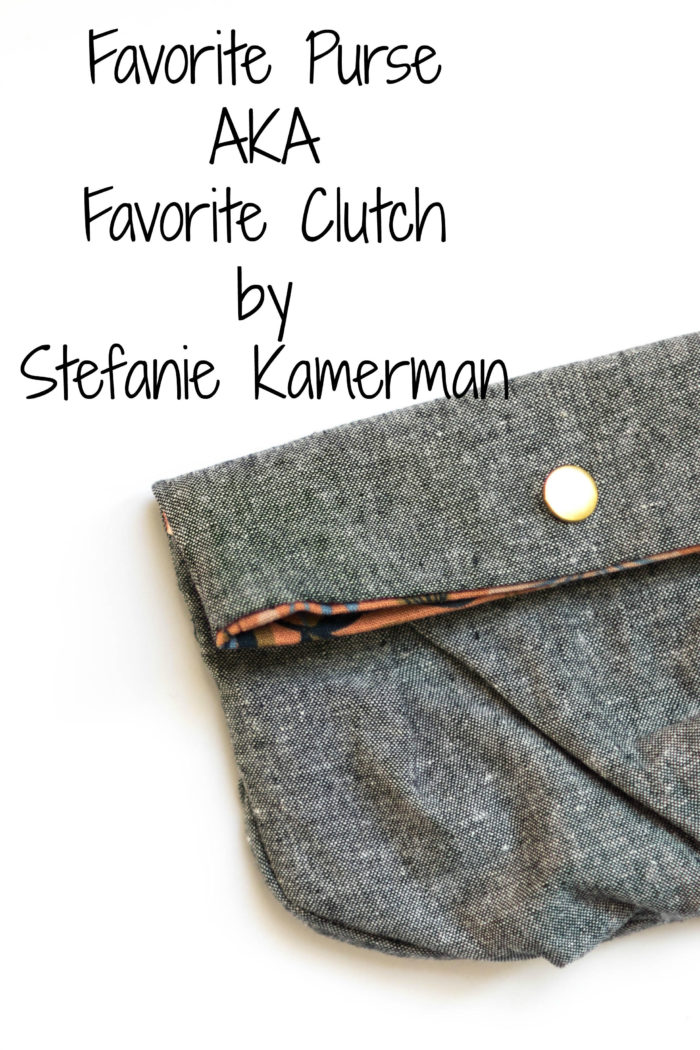 Favorite Purse sewing pattern from Blank Slate Patterns sewn by Stefanie Kamerman
