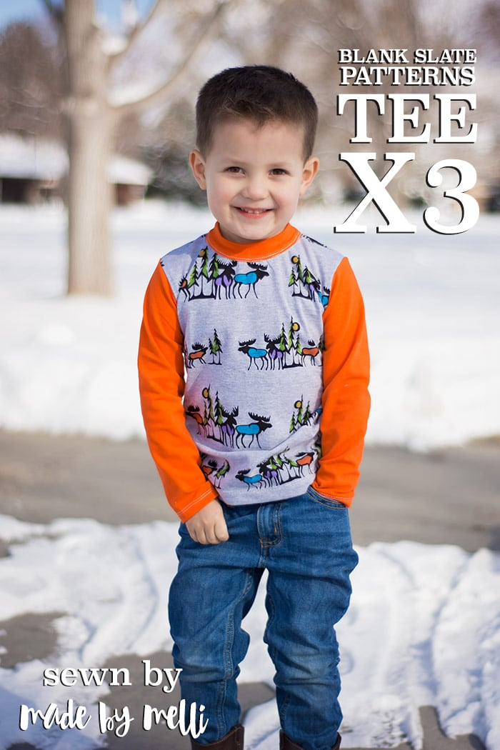 Tee x 3 T-shirt Pattern by Blank Slate Patterns sewn by Made by Melli