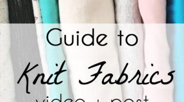 Understanding Knit Fabrics – Fabric Types