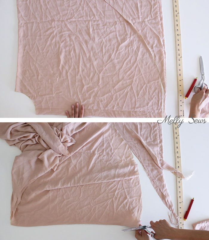 Step 2 - How to Sew a Circle Skirt - DIY Circle Skirt with a Waistband - Melly Sews