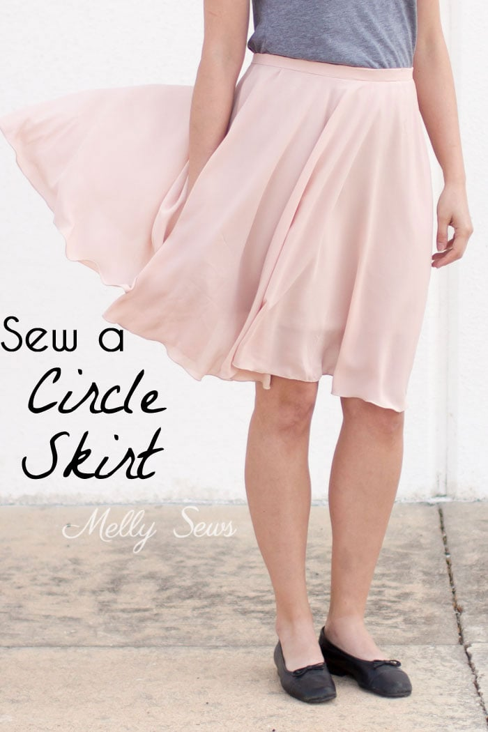 How to Sew a Circle Skirt - DIY Circle Skirt with a Waistband - Melly Sews