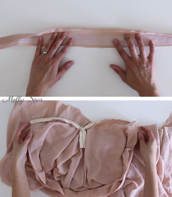 Step 3 - How to Sew a Circle Skirt - DIY Circle Skirt with a Waistband - Melly Sews