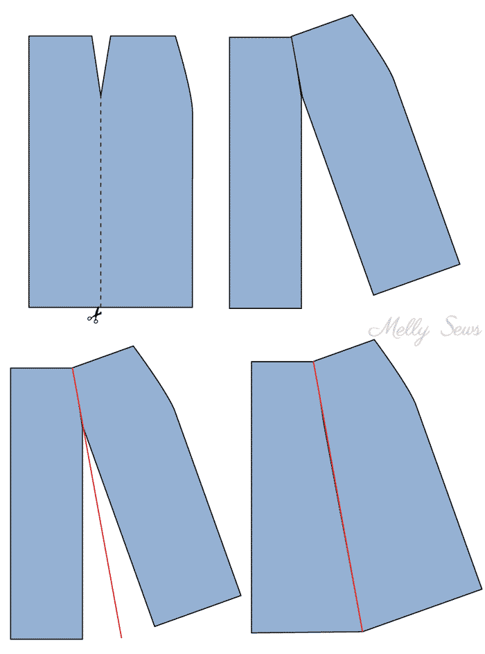 Step 1 - Sew a Button Up Denim Skirt - Full Tutorial for this skirt in any size by Melly Sews