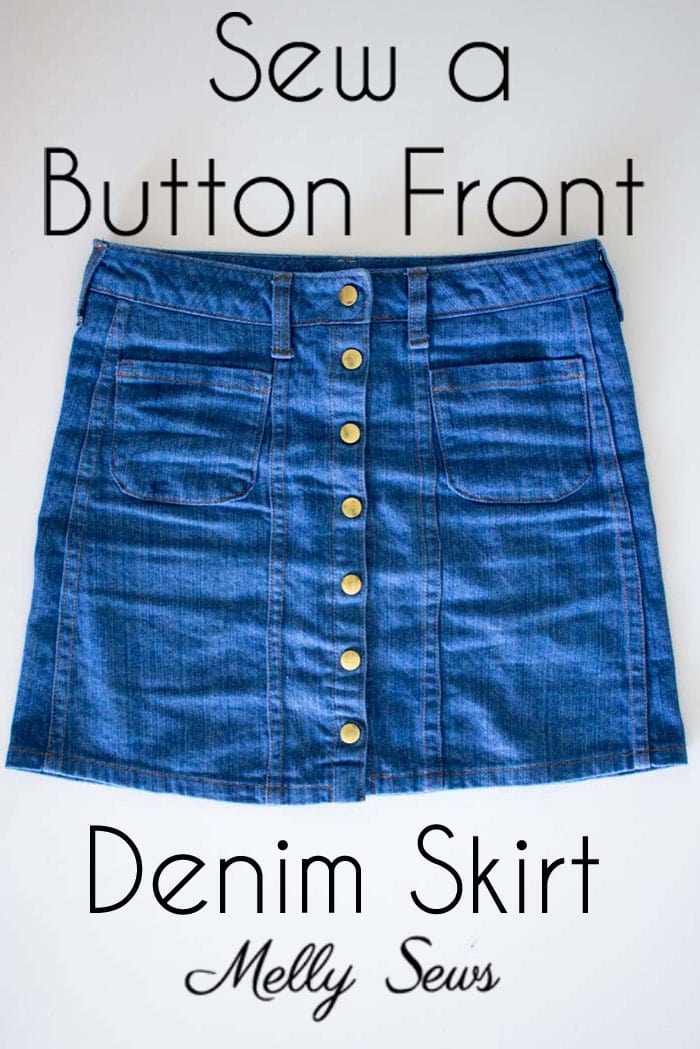 6299a4c86 Sew a Button Front Denim Skirt - Melly Sews