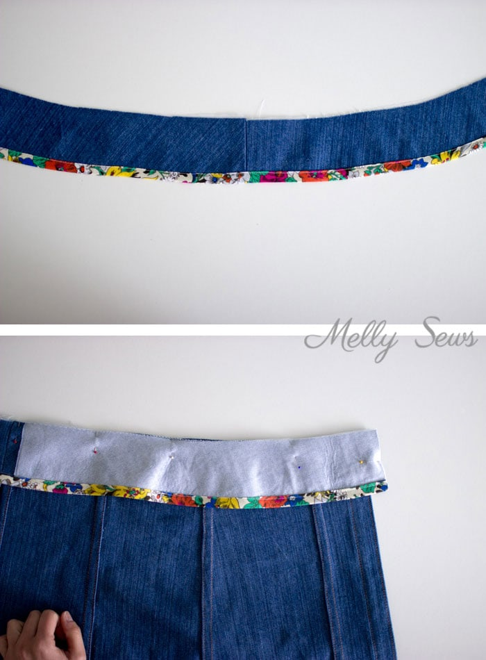 step 8 - Sew a Button Up Denim Skirt - Full Tutorial for this skirt in any size by Melly Sews