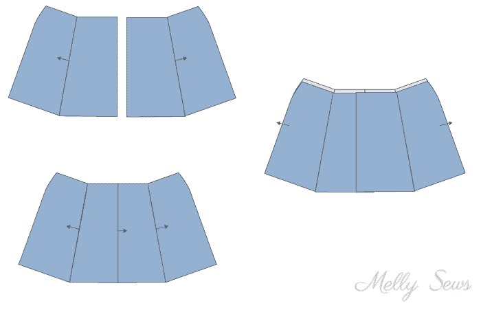 Step 4 - Sew a Button Up Denim Skirt - Full Tutorial for this skirt in any size by Melly Sews