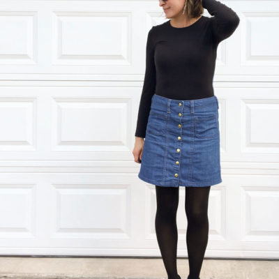 Sew a Button Front Denim Skirt