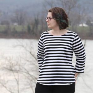 Shoreline Boatneck sewing pattern from Blank Slate Patterns | now available in sizes XXS-3X | Hack Pack also included