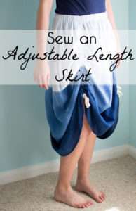 Sew an adjustable length skirt - make a skirt with ruching - a tutorial by Melly Sews