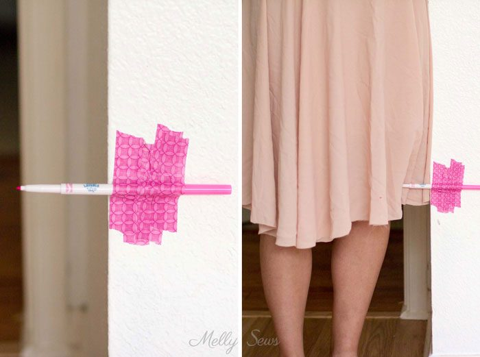 What a genius tip! How to hem a skirt - Melly Sews