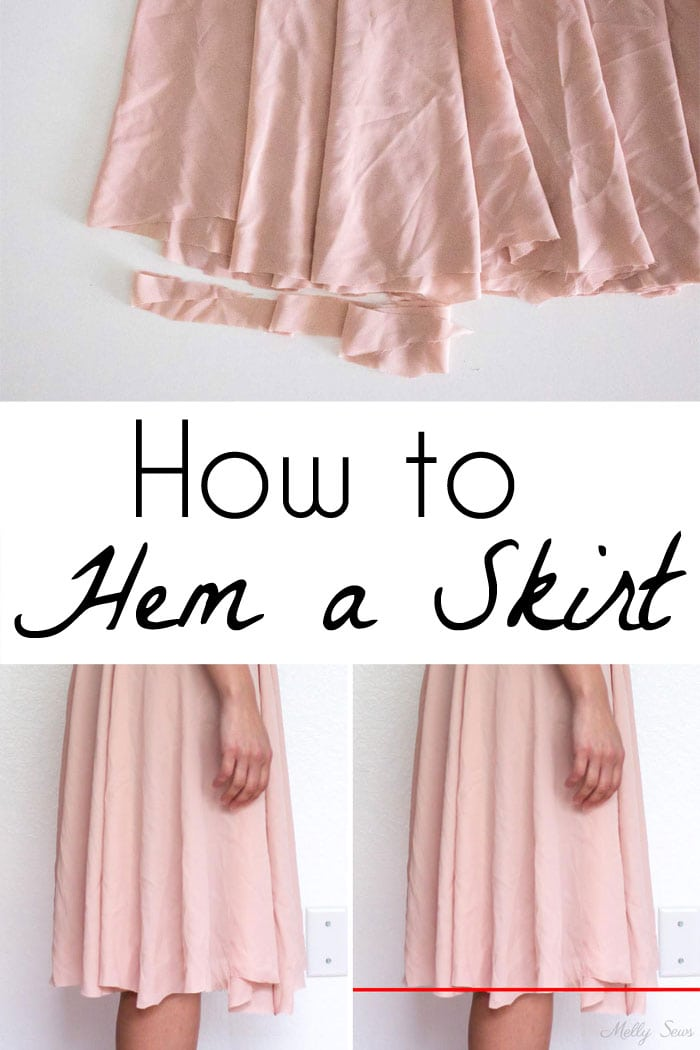 How to hem a skirt - Melly Sews