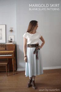 marigold skirt sewing pattern from blank slate patterns sewn by sweetkm
