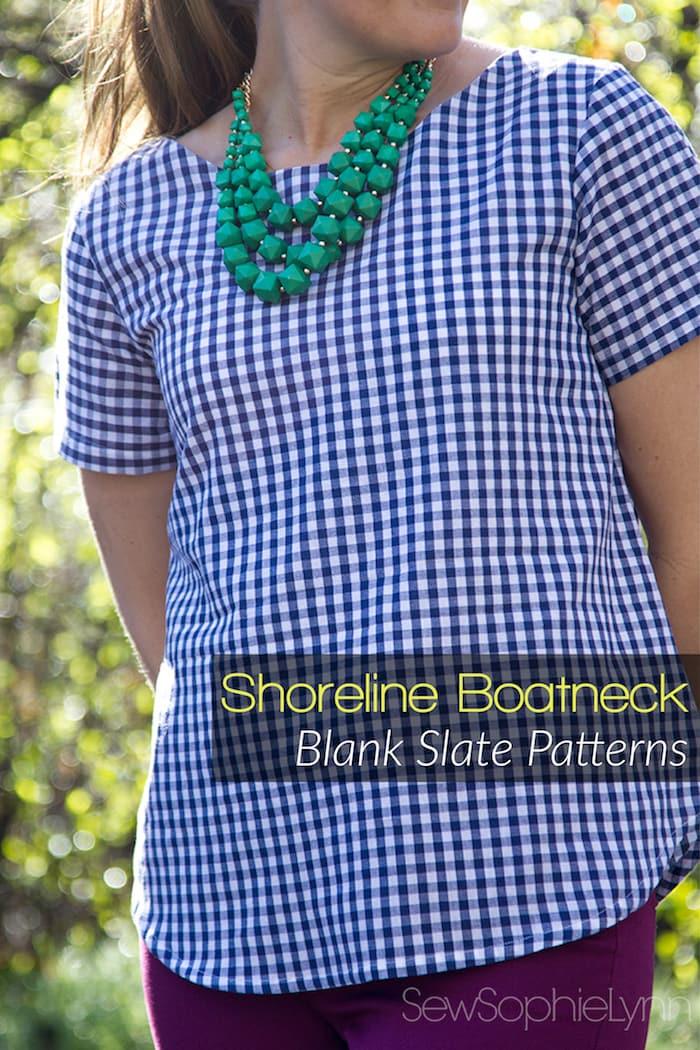 Shoreline Boatneck by Blank Slate Patterns sewn by SewSophieLynn