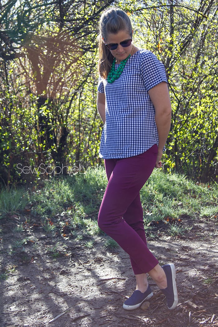 Shoreline Boatneck Top by Blank Slate Patterns sewn by SewSophieLynn