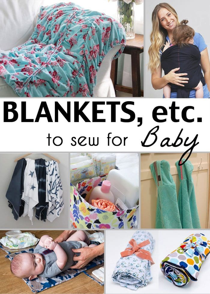 Sew a Baby Blanket - 21 Gifts to Sew for Baby - So many adorable ideas for things to sew for babies! - Melly Sews