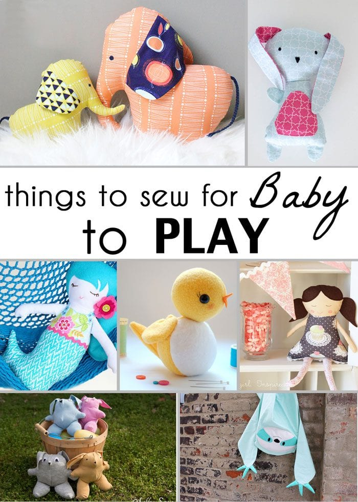 Cute baby toys to sew! 21 Gifts to Sew for Baby - So many adorable ideas for things to sew for babies! - Melly Sews
