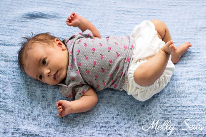 So sweet! Sew a baby tshirt - super cute free pattern - would be an adorable baby gift! Tutorial and video from Melly Sews