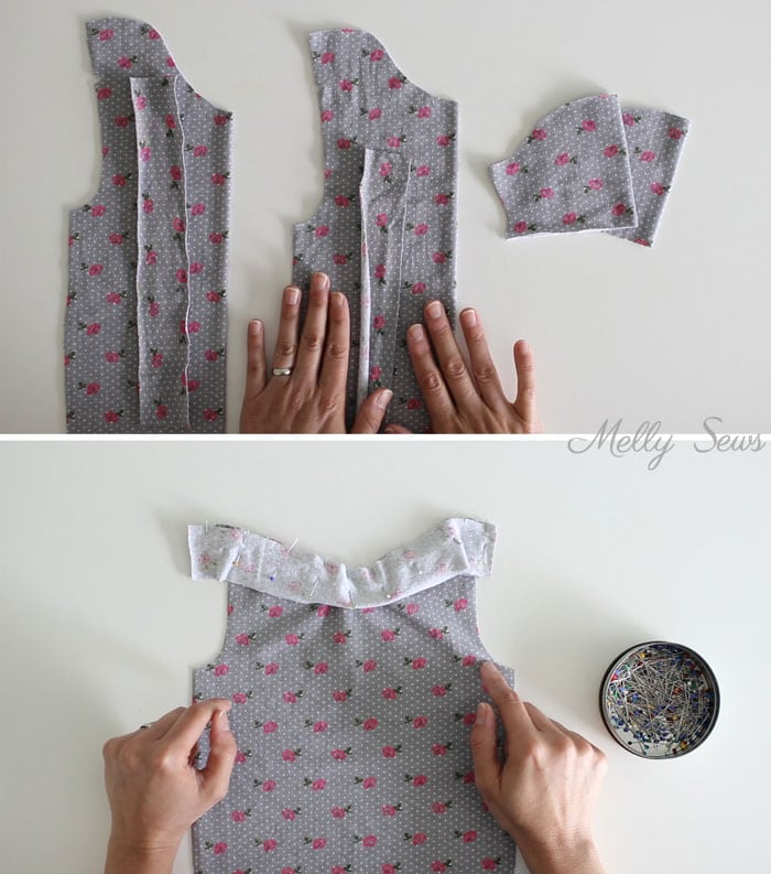 Step 1 - Sew a baby tshirt - super cute free pattern - would be an adorable baby gift! Tutorial and video from Melly Sews