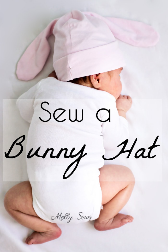 Sew a bunny hat - such a cute gift to sew for a baby! Tutorial from Melly Sews