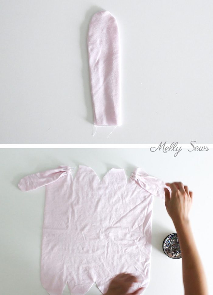 Step 2 - Sew a bunny hat - such a cute gift to sew for a baby! Tutorial from Melly Sews