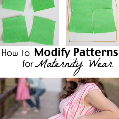How to Modify Patterns for Maternity Use