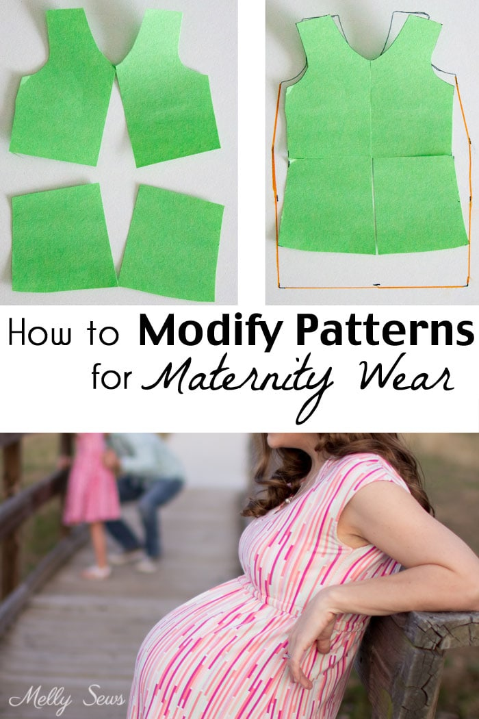 14ac53088693b How to modify sewing patterns for maternity - maternity pattern alteration  - Melly Sews