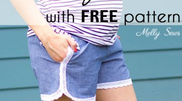 Maternity Shorts with Free Pattern