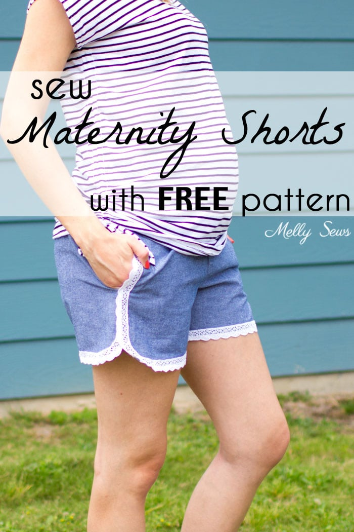 Maternity Shorts With Free Pattern Melly Sews