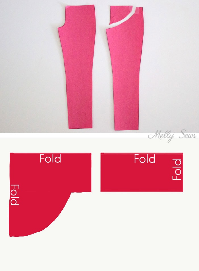 Maternity Pants Yoga Waist - How to modify sewing patterns for maternity - maternity pattern alteration - Melly Sews