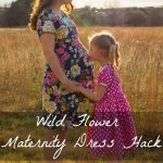 Wild Flower Top to Maternity Dress Hack