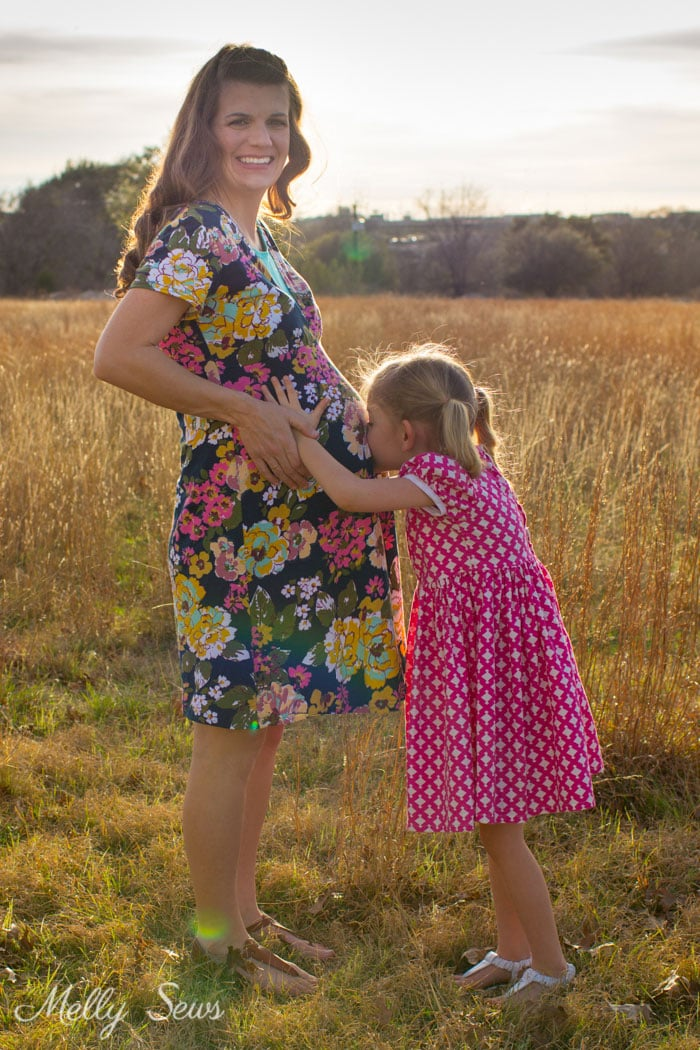 Wild Flower Dress by Blank Slate Patterns - Maternity Sewing Hack - Melly Sews