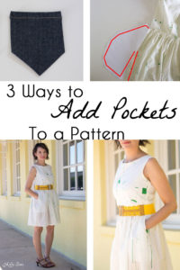 How to add pockets to a sewing pattern - 3 ways to add pockets if a sewing pattern doesn't have them - tutorial by Melly Sews
