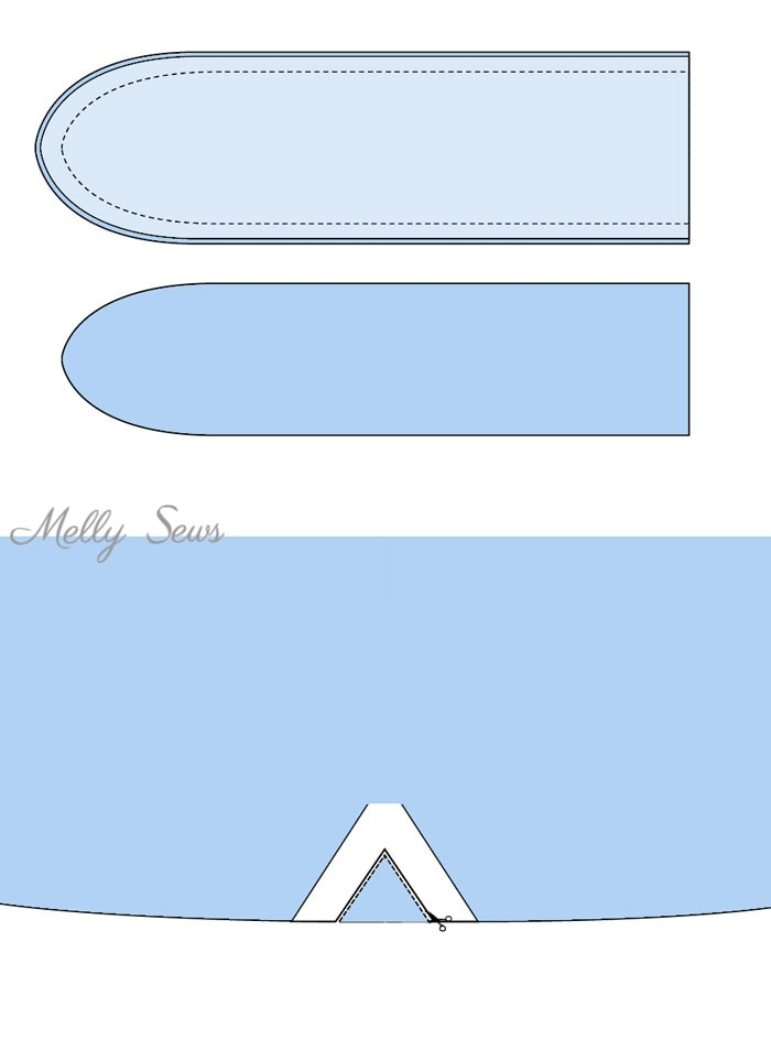 How to sew a knot shirt - turn any shirt (even a store bought one!) into a knot front shirt - sewing tutorial by Melly Sews