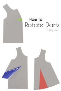 How to rotate darts - change the design of a sewing pattern - Melly Sews
