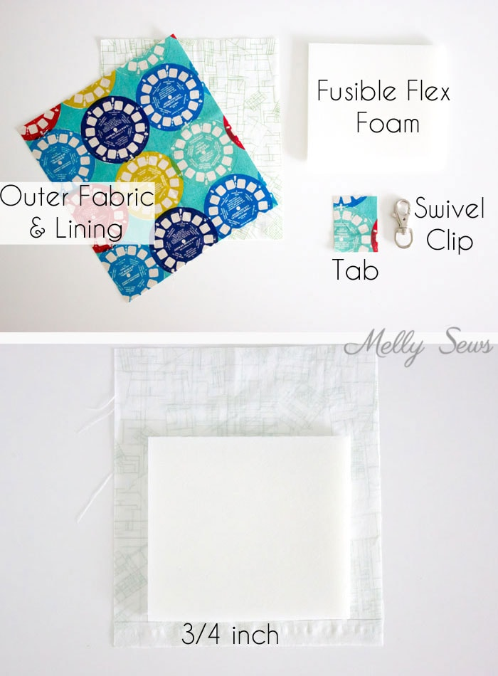 Materials - Sew a Snappy Pouch - Genius! Use Metal Measuring Tape as a Pouch Closure - Glasses Case Tutorial by Melly Sews