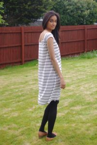Fairelith Top sewing pattern from Blank Slate Patterns   sewn by _ym.sews_   swing dress hack